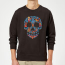 Coco Skull Pattern Sweatshirt - Black