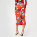 Diane von Furstenberg Women's Tailored Midi Pencil Skirt - Asher Vermillion