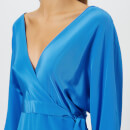 Diane von Furstenberg Women's Long Sleeve Floor Length Wrap Dress - Cobalt