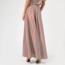 Diane von Furstenberg Women's High Waisted Draped Maxi Skirt - Baker Dot Small Sienna