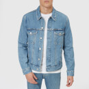 Calvin Klein Jeans Men's Modern Classic Trucker Jacket - Lyon Blue with Patch