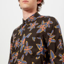 PS Paul Smith Men's Tailored Long Sleeve Floral Shirt - Black