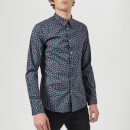 PS Paul Smith Men's Floral Long Sleeve Shirt - Indigo