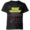 Space Invaders Game Screen Kinder T-Shirt - Schwarz