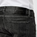 Edwin Men's ED-85 Slim Tapered Drop Crotch Red Listed Selvage Denim Jeans - Mid Trip Used