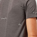 Asics Men's Seamless Short Sleeve Top - Dark Grey Heather