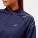Asics Women's Icon Winter Long Sleeve 1/2 Zip Top - Peacoat/Ironclad