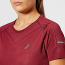 Asics Women's Seamless Short Sleeve Top - Cordovan