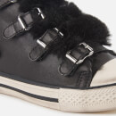 Ash Women's Valko Leather Hi-Top Trainers - Black