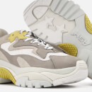 Ash Women's Addict Chunky Runner Style Trainers - Grey/Off White/Yellow