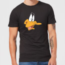 Looney Tunes Daffy Duck Face Men's T-Shirt - Black