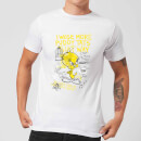 Looney Tunes Tweety Pie More Puddy Tats Men's T-Shirt - White