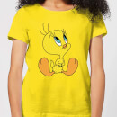 Looney Tunes Tweety Sitting Women's T-Shirt - Yellow