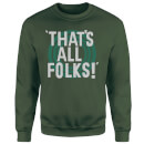 Looney Tunes That's All Folks Sweatshirt - Forest Green