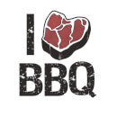 I Love BBQ Women's T-Shirt - White