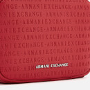 Armani Exchange Women's All Over Logo Embossed Cross Body Bag - Red