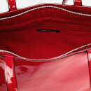 Armani Exchange Women's Patent Shopping Tote Bag - Red