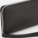 Armani Exchange Women's Zip Around Wristlet Purse - Black