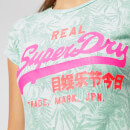 Superdry Women's Vintage Logo Aop Burnout Entry T-Shirt - Burnout Mint