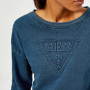 Guess Women's Indigo Fleece - Indigo Blue