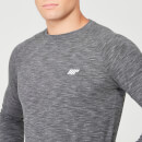 Performance Long Sleeve T-Shirt - Charcoal Marl - XS - Black Marl
