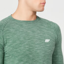 Performance Langærmet T-Shirt - Dark Green Marl - XS