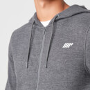 Tru-Fit Zip Up Hoodie - XS - Charcoal Marl