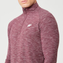Performance Long-Sleeve ¼ Zip-Top - XS - Burgundy Marl