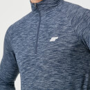 Performance 1/4 Zip Top - Navy Marl - S