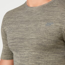 Seamless T-Shirt - Light Olive - XS