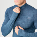 Sculpt Seamless 1/4 Zip Top - Petrol Blue - XS - Petrol Blue
