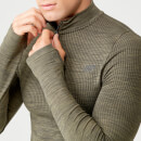 Seamless 1/4 Zip Top - Light Olive - XS
