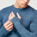 Seamless Long Sleeve T-Shirt - Petrol Blue - S