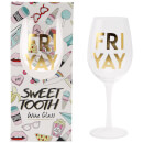 Sweet Tooth 'Fri Yay' Wine Glass