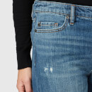 Armani Exchange Women's Wide Leg Cropped Jeans - Indigo Denim