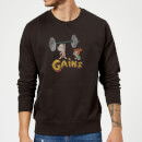 The Flintstones Distressed Bam Bam Gains Sweatshirt - Black