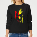 Ant-Man And The Wasp Split Face Women's Sweatshirt - Black