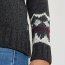 Barbour Heritage Women's Ruby Fair Isle Jumper - Dk Grey Marl