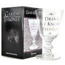 Verre à Vin Game Of Thrones (I Drink And Know Things)