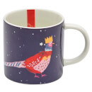 Joules Single Porcelain Mug - Festive Bird