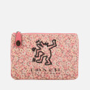 Coach Women's X Keith Haring Turnlock 26 Pouch - Bright Pink