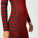 McQ Alexander McQueen Women's Rib Striped Dress - Red Clay