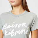 Maison Kitsuné Women's Par Rec Handwriting T-Shirt - Grey Melange