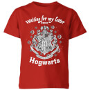 T-Shirt Enfant J'attends Ma Lettre de Poudlard - Harry Potter - Rouge