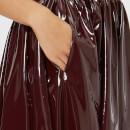 db7bf2dbfd MSGM Women's PVC Midi Skirt - Burgundy - Free UK Delivery over £50