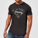 DC Originals Marble Superman Logo Men's T-Shirt - Black