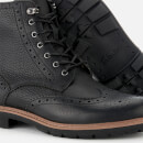 Clarks Men's Batcombe Lord Leather Brogue Lace Up Boots - Black