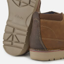 Clarks Men's Vargo Mid Leather Chukka Boots - Dark Tan