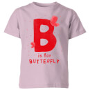 My Little Rascal B Is For Butterfly Kids' T-Shirt - Baby Pink