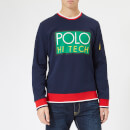 Polo Ralph Lauren Men's Double Knit Crew Neck Sweatshirt - Blue/Red/Green
